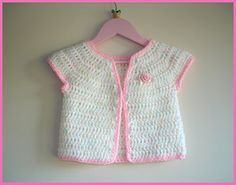 marianna's lazy daisy days: Rosebud Baby Girl Cardigan Jacket
