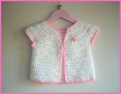 marianna's lazy daisy days: Rosebud Baby Girl Cardigan Jacket Tutorial ✿⊱╮Teresa Restegui http://www.pinterest.com/teretegui/✿⊱╮