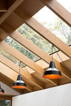 Grey Griffiths Architects' London extension features exposed roof structure Best Picture For roof light For Your Taste You are looking for something, and it is going to tell you exactly what you are l House Extension Design, Roof Extension, Metal Pergola, Pergola With Roof, Roof Design, House Design, Architects London, Roof Ceiling, Ceiling Fan
