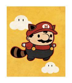 becky-beyx-videogame-illustrations-raccoon-mario