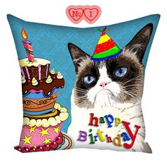 Pillow Grumpy Cat Tardar Sauce, pillow with cat, gifts for cat lovers, Cat Tardar Sauce, cushion with photos, pillow with cat, cushion cat by giftsforloved on Etsy