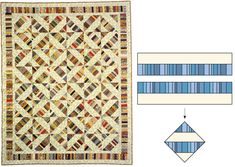 Strip-pieced half-square triangles, even MORE ways to use up those scraps and make a stunning quilt!!