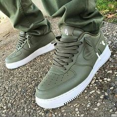 Pinterest: @qreativeneisha Camo Green Low Air Force 1s