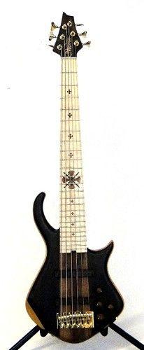 Warrior 6 String Dran Michael Bass Maple Swamp Ash Purple Heart Walnut