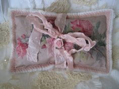 Shabby Pink Roses LAVENDER SACHET Beautiful by TheJoyfulHome, $7.00