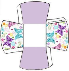 Cajitas para imprimir gratis de mariposas. | Ideas y material gratis para fiestas y celebraciones Oh My Fiesta!
