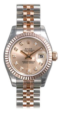 Rolex Datejust Rose Diamond Dial Jubilee Bracelet Two Tone Ladies Watch 179171RDJ