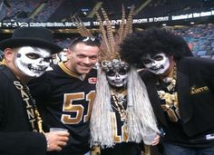 If you've ever watched a New Orleans Saints home game on television, you may have seen Voodoo Man and his Voodoo Krewe, Who Dat Nation's most famous superfans, cheering on Drew Brees and Company.     The Voodoo Krewe may look crazy, but apparently they are quite polite.