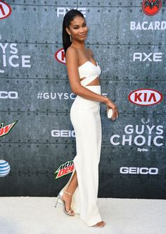7 Chanel Iman's Spike TV Guy's Choice Awards Solace London Strapless Cut Out Dress