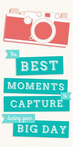 The photos you might have forgotten to take on your wedding day. Don't forget any of these!