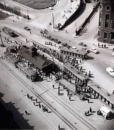 Tram Terminal at Railway Square, Sydney, c1943. Photo: Max Dupain .. #sydney #ozhistory #rail #railwaysquare