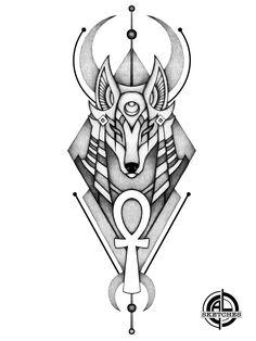 Egypt Tattoo Design, Tattoo Design Drawings, Tattoo Sleeve Designs, Tattoo Sketches, Tattoo Designs Men, Tattoo Outline Drawing, Egyptian Drawings, Ancient Egyptian Art, Body Art Tattoos
