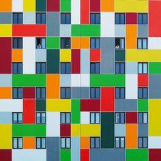 yener torun captures istanbul's architecture as kaleidoscopic color canvasses