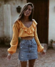 @isabelswoger  Just the top. Screw mini denim skirts. That's middle school crap.