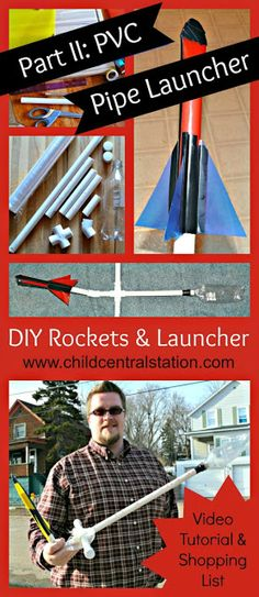DIY PVC Pipe Rocket Launcher and File Folder Rockets Part II: PVC Pipe Launcher | Child Central Station