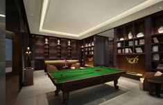 21 Relaxing Recreational Room Ideas & Pictures - Rec Room - Home Decor Ideas Apartment Curtains, Diy Curtains, Custom Pool Tables, Game Room Bar, Basement House, Luxury Pools, Workspace Design, Billiard Room, Relax