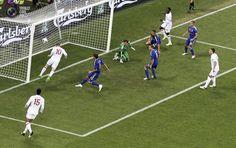 Rooney's 1st match and 1st goal. England vs. Ukraine 1:0