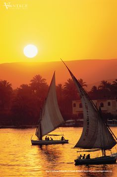 Nile river at sunset, a lovely cruise after an amazing visit to Cairo, 2011