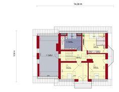 Rzut ZA Dom w OREGONIE 3 CE Malm, Design Case, House Plans, Floor Plans, How To Plan, Architecture, Home, Arquitetura, Ad Home