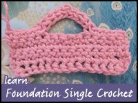 Tutorial: Foundation Single Crochet  This foundation single crochet tutorial is broken down by each teeny-tiny step and includes a quick video demonstration at the end.