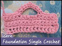 Tutorial: Foundation Single Crochet