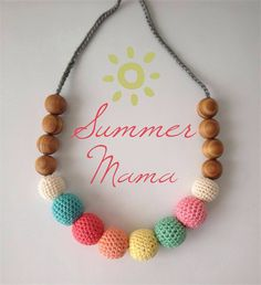 Summer colours - crochet teething necklace