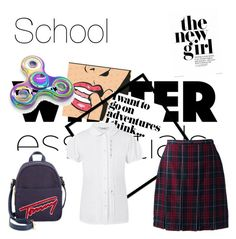 """School"" by fionabrown1 ❤ liked on Polyvore featuring Lands' End, George and Tommy Hilfiger"