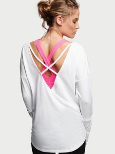 VICTORIA'S SECRET SPORT Layered Wrap Pullover   SHOP @ FitnessApparelExpress.com