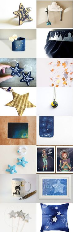 Starry Night by Laura on Etsy--Pinned with TreasuryPin.com