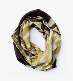 Lehar Chevron Print Reversible Infinity Scarf by ICHCHA on Scoutmob