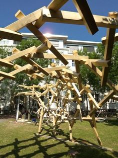 Cool self-supporting wood structures