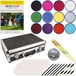 Snazaroo 12-Color Face Paint Kit With Brushes, Sponges & Case