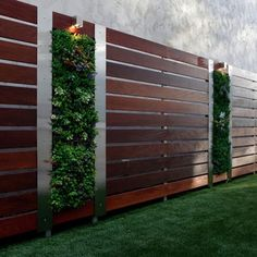 modern fence w. vertical succulent garden - sublime decor