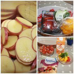 Deilig pølsepanne – til glede for store og små – Spiselise Cantaloupe, Sausage, Food And Drink, Fruit, Desserts, Tailgate Desserts, Deserts, Sausages, Postres