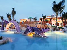 Piscina infantil del hotel Barceló Maya Palace Deluxe