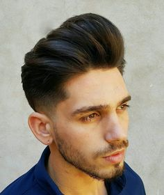 How to layer your own hair step guide top styles trendiest layered haircuts for men parted cuts including mermaid concept curled inspirations sexy ynthetic wig short curly haircut brown costume Medium Layered Haircuts, Short Curly Haircuts, Curly Hair Cuts, Medium Hair Cuts, Medium Hair Styles, Pompadour Style, Pompadour Hairstyle, Mens Hairstyles With Beard, Haircuts For Men