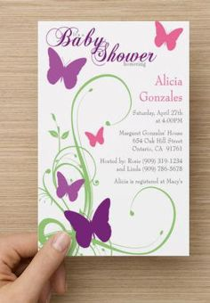 Butterfly Baby Shower Invitation by PremierPrinting on Etsy #BabyShower