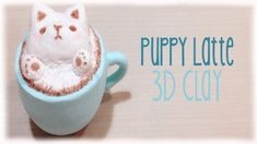 3D Latte Puppy Design Polymer Clay Tutorial DIY