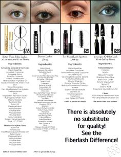 Compare for yourself!  Younique 3d fiber lash mascara!  Youniqueproducts.com/kimfrench