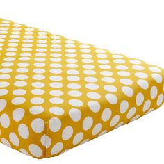 Baby Sheets: Yellow Dotted Fitted Crib Sheet | The Land of Nod