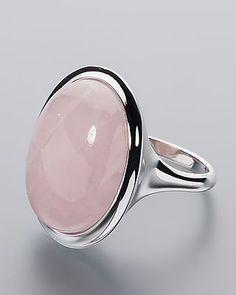 Eleganter Silberring mit schimmerndem Rosenquarz Material: 925er…