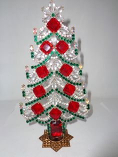 Vintage 1940s/1950s czech mantel tree. Available at www.CydneysAntiques.com then click or search czech trees.