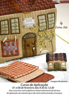 House Quilts, Fabric Houses, Houses Houses, Landscape Quilts, Tea Cozy, Primitive Folk Art, Toy Craft, Pincushions, Quilting Projects