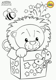 Cuties Coloring Pages for Kids - Free Preschool Printables - Slatkice Bojanke - Cute Animal Coloring Books by BonTon TV Free Printable Coloring Sheets, Coloring Sheets For Kids, Printable Adult Coloring Pages, Cute Coloring Pages, Disney Coloring Pages, Coloring Pages To Print, Animal Coloring Pages, Coloring Books, Preschool Printables