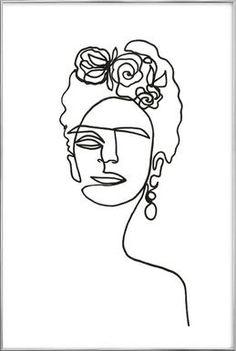 frida kahlo paintings Frida Kahlo als Premium Poster von Julia Hariri Kunst Inspo, Art Inspo, Art Sketches, Art Drawings, Fridah Kahlo, Kahlo Paintings, Artwork Paintings, Abstract Paintings, Encaustic Painting