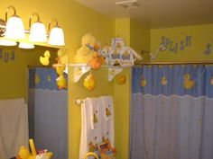 I'm considering doing a duck/turtle bathroom for Colton.  This may be too much, but it gives me some inspiration.