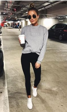 b15fbe8fb0836 Fall 2018  what leggings to wear with dress this Autumn - fall dresses  Athleisure Outfits