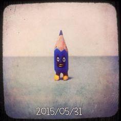 ✏️ #art #acrylic #artwork #tiny #figure #doll #tinydoll #wood #woodcarving #pencil #pencilman #etsy #creative #craftsposure #stationery #handmade #miniature #blue