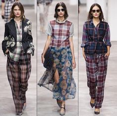 Plaid has gone from a grunge look to all around fashion. Darker plaid prints are still seen among the modern grunge hipster, and brighter plaid prints among other style tribes. Neo Grunge, Grunge Style, Estilo Grunge, Grunge Look, 1990s Grunge, Soft Grunge, 90s Girl Fashion, 90s Fashion Grunge, Net Fashion