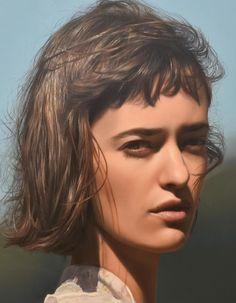 Yigal Ozeri - Shadows of reality oil on canvas